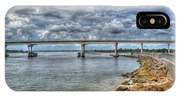 Bridge Over Sebastian Inlet IPhone Case