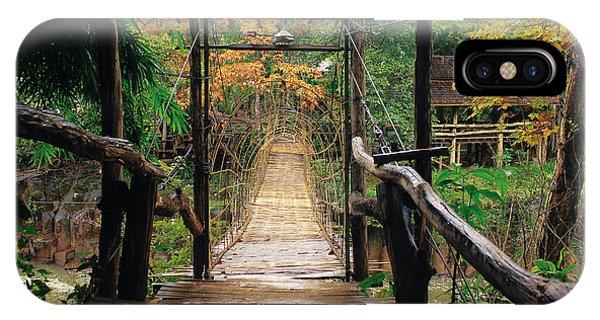 Bridge Over Waterfall IPhone Case