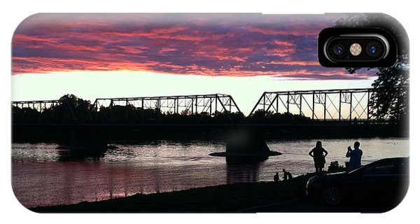 Bridge Sunset In June IPhone Case