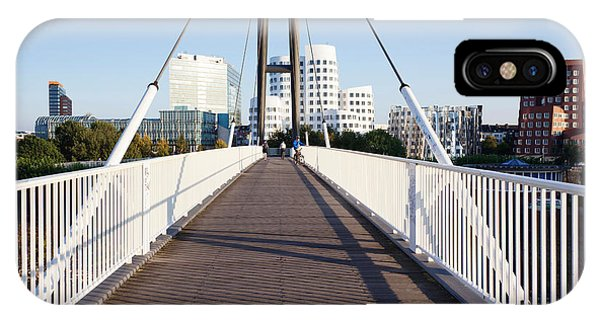 Gehry iPhone Case - Bridge With Neuer Zollhof Buildings by Panoramic Images