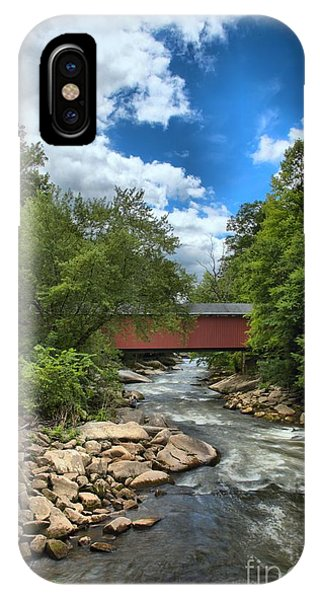 Bridging Slippery Rock Creek IPhone Case