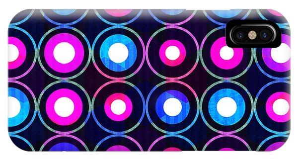 Neon iPhone Case - Bright Circle Seamless Pattern by Gudinny