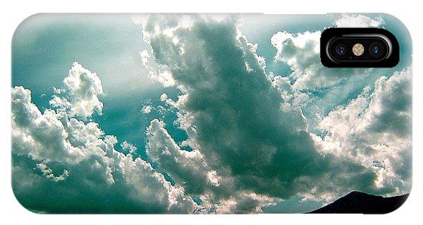 Bright Clouds Phone Case by Mavis Reid Nugent