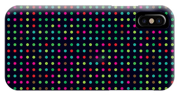 Vivid Colors iPhone Case - Bright Colorful Dots On A Dark by Leone v