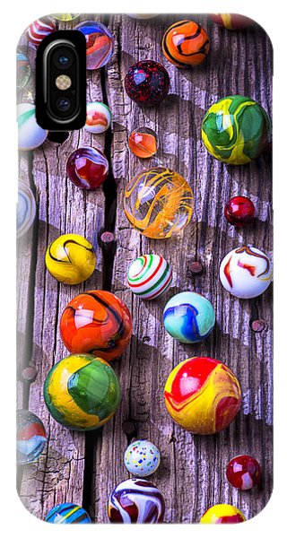Novelty iPhone Case - Bright Colorful Marbles by Garry Gay