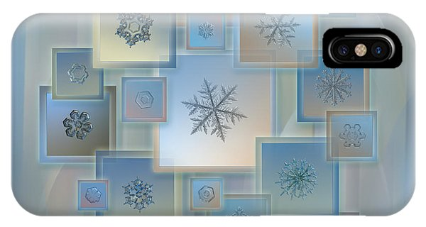 Snowflake Collage - Bright Crystals 2012-2014 IPhone Case