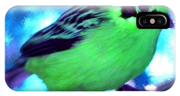 Bright Green Finch IPhone Case