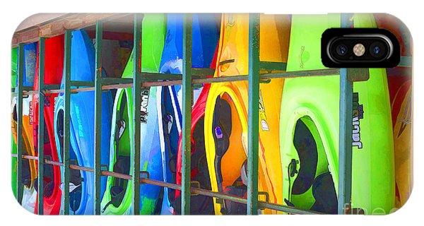 Bright Kayak IPhone Case