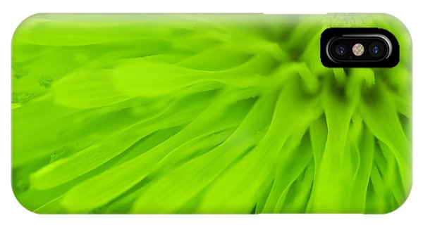 Bright Lime Green Dandelion Close Up Phone Case by Natalie Kinnear