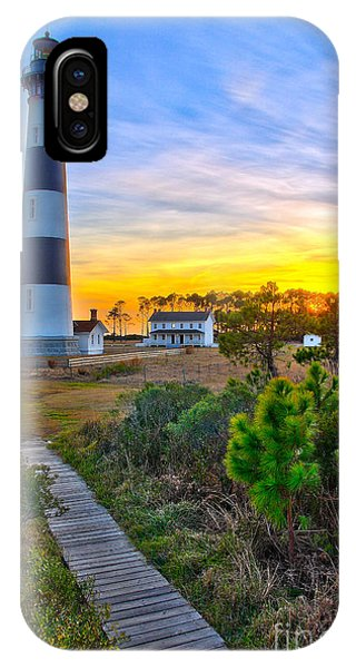 Bright Sunset At Bodie - Outer Banks I IPhone Case