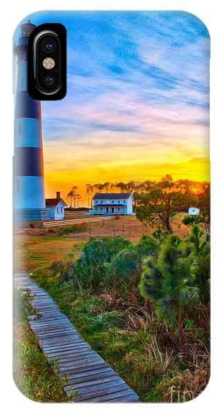 Bright Sunset At Bodie - Outer Banks II IPhone Case