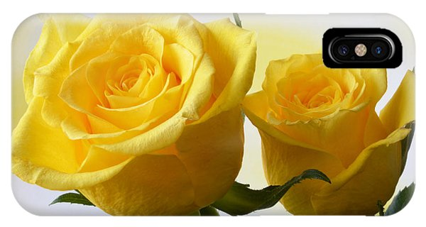 Bright Yellow Roses. IPhone Case