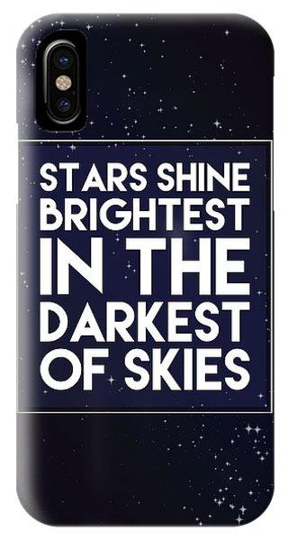 Solar System iPhone Case - Brightest Stars by Samuel Whitton