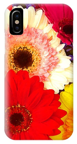 Brightly Colored Gerbers IPhone Case