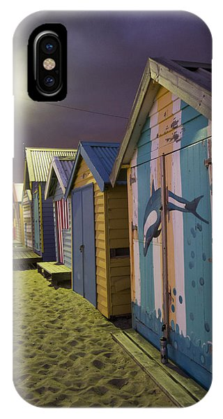Brighton Beach Huts Melbourne IPhone Case
