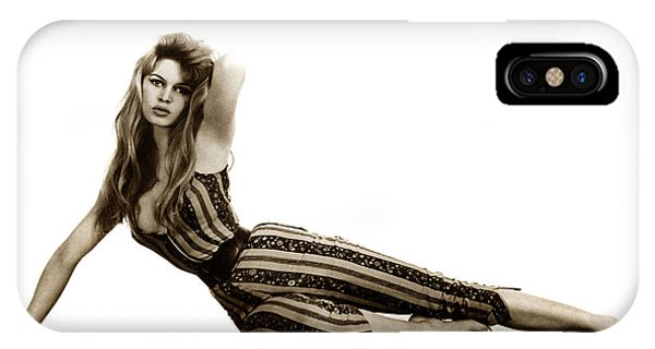 Sex Kitten iPhone Case - Brigitte Bardot French Actress Sex Symbol 1967 by California Views Archives Mr Pat Hathaway Archives