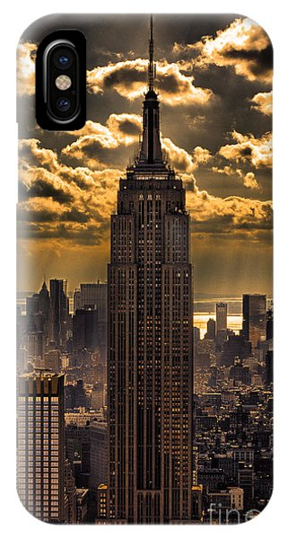 Building iPhone Case - Brilliant But Hazy Manhattan Day by John Farnan