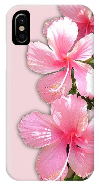 Brilliant Pink Hibiscuses IPhone Case