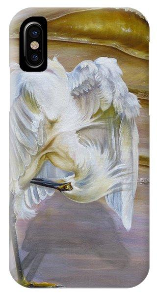 Brilliant White Snowy Egret IPhone Case