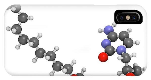 Virus iPhone Case - Brincidofovir Antiviral Drug Molecule by Molekuul