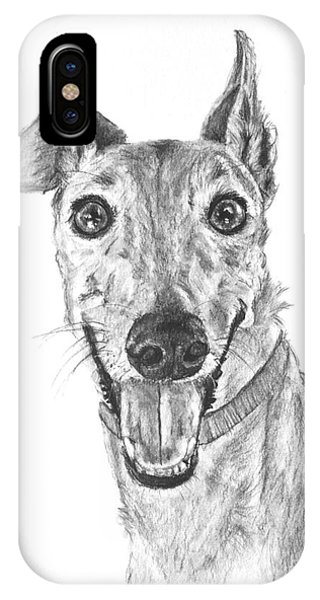 Brindle Greyhound Close Up Portrait IPhone Case