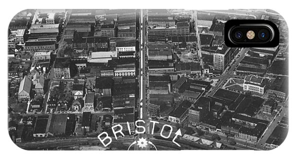 Bristol Virginia Tennessee Early Aerial Photo IPhone Case
