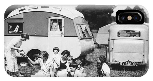 Caravan iPhone Case - British Caravan Campers by Underwood Archives
