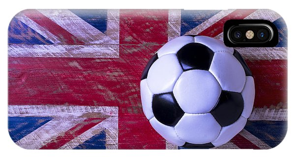 Soccer iPhone Case - British Flag And Soccer Ball by Garry Gay