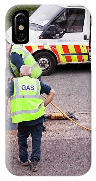 British Gas Workers Replacing Old Pipes IPhone Case