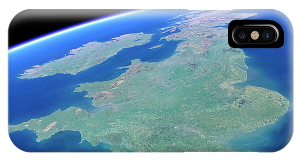 Northern Scotland iPhone Case - British Isles From Space by Planetary Visions Ltd/science Photo Library