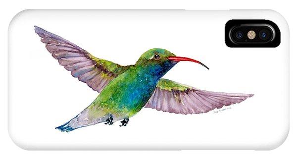 Broad Billed Hummingbird IPhone Case