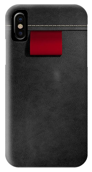 Broad Clothing Label In Black Leather IPhone Case