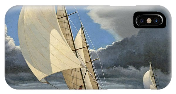 Sailboat iPhone Case - Broad Reach by Paul Krapf
