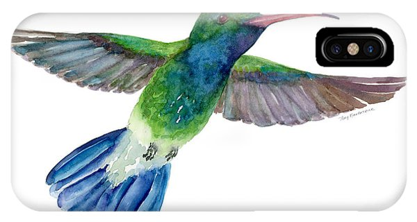 Broadbilled Fan Tail Hummingbird IPhone Case