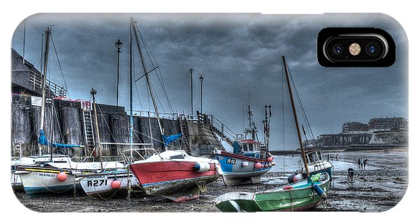 Broadstairs Harbour IPhone Case