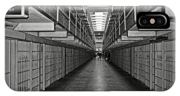 Broadway Walkway In Alcatraz Prison IPhone Case