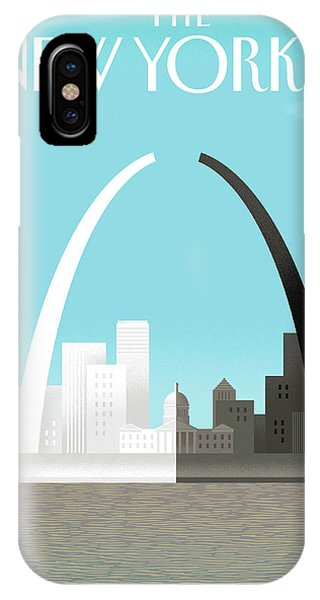 Missouri iPhone Case - Broken Arch. A Scene From St. Louis by Bob Staake