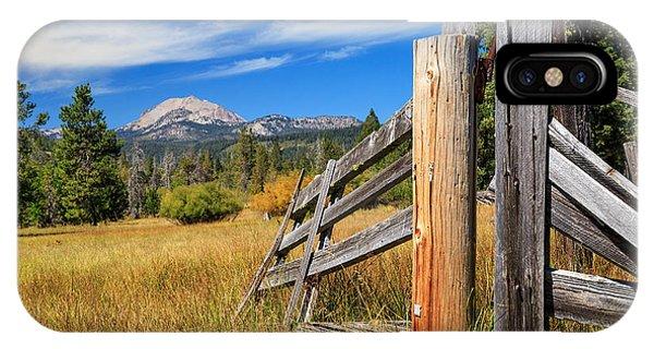 Broken Fence And Mount Lassen IPhone Case