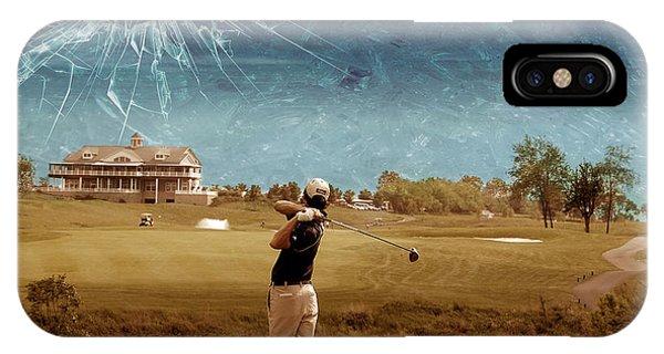 Golf iPhone Case - Broken Glass Sky by Marian Voicu