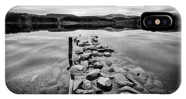 Loch Ard iPhone Case - Broken Jetty by John Farnan