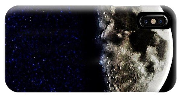 Half Moon iPhone Case - Broken  by Marianna Mills
