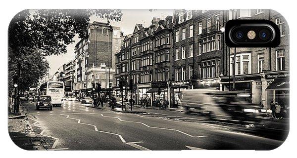 Brompton Road Knightsbridge IPhone Case
