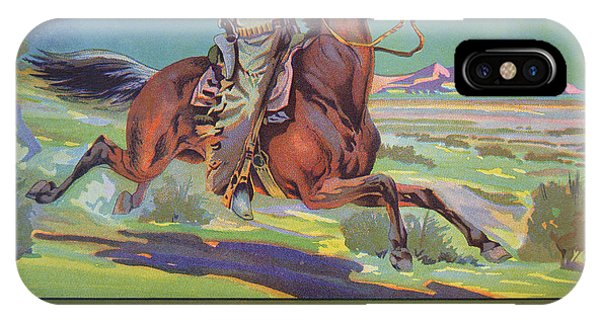Horse iPhone X Case - Bronco Oranges by American School
