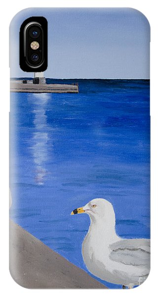 Bronte Lighthouse Gulls In Oil IPhone Case