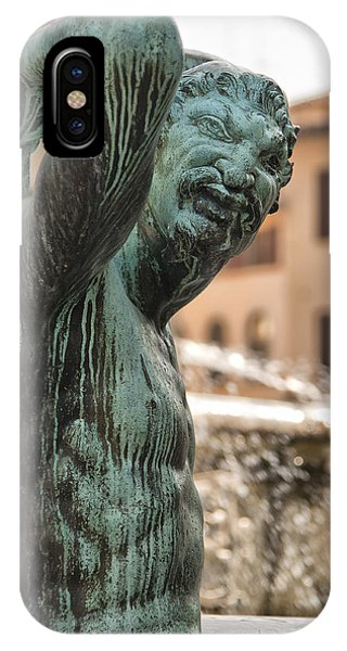 Bronze Satyr In The Statue Of Neptune IPhone Case