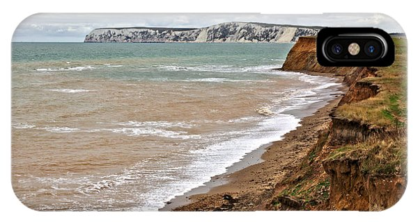 IPhone Case featuring the photograph Brook Bay And Chalk Cliffs by Jeremy Hayden
