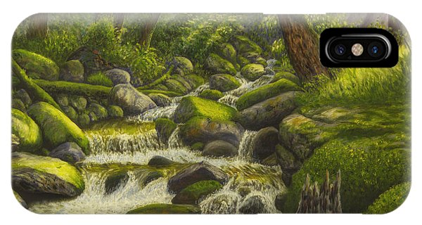 Brook In The Forest IPhone Case