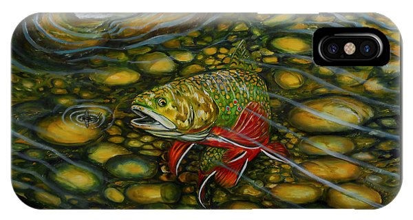 IPhone Case featuring the painting Brook Trout by Steve Ozment