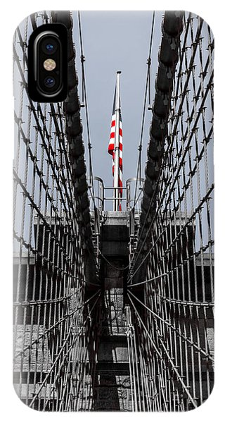 Brooklyn Bridge American Flag IPhone Case