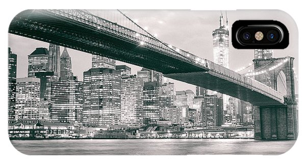 Gehry iPhone Case - Brooklyn Bridge And New York City Skyline At Night by Vivienne Gucwa